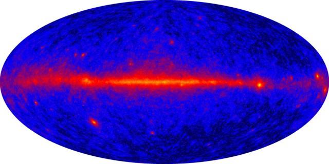 Первая карта неба в гамма-лучах