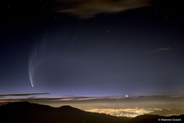 комета МакНота над Чили