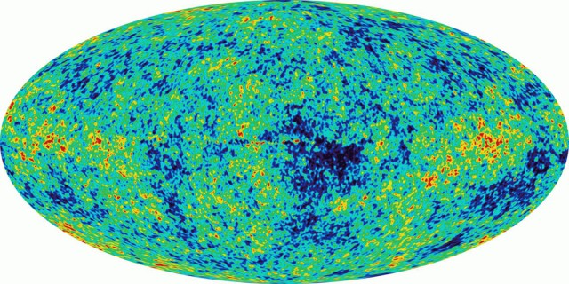 Распределение во Вселенной микроволнового фонового излучения